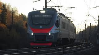 Электропоезд ЭП2Д-0042 ЦППК перегон Нара-Бекасово 1 15.10.2018