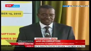 Chief Justice; David Maraga promises corrupt individuals a time behind bars, 15/12/16