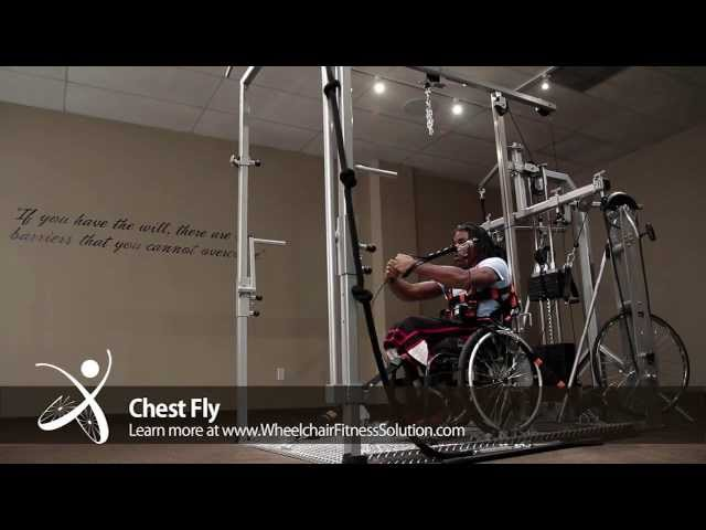 Wheelchair Fitness Solution | Exercise: Chest Fly (28 of 40)