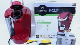 Keurig K45 Elite Brewing System - Unboxing, Setup & Review