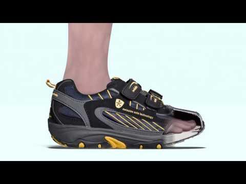 Allungando i tendini della caviglia