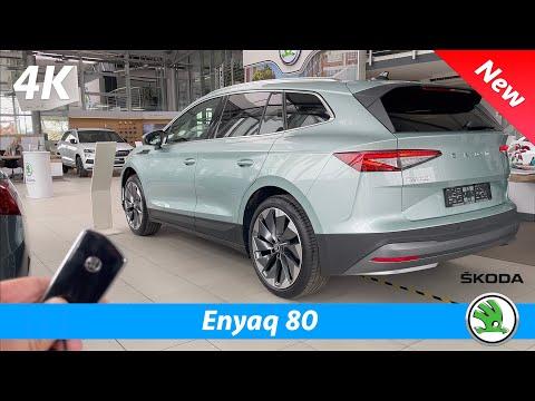 Škoda Enyaq iV 80 2021 - First FULL In-depth review in 4K | Exterior-Interior-Infotainment-HUD