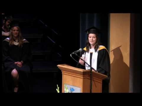 Valedictorian speech - June 8, 2016 (afternoon) - Vancouver Island University convocation