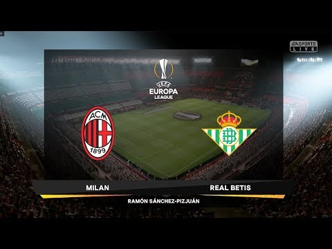 FIFA 19 | AC Milan vs Real Betis | UEFA Europa League |