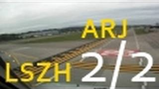preview picture of video 'ARJ Takeoff in Zürich LSZH Runway 28 (PART 2/2)'