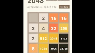2048 AI - 32768 Tile Achieved, Score 630304