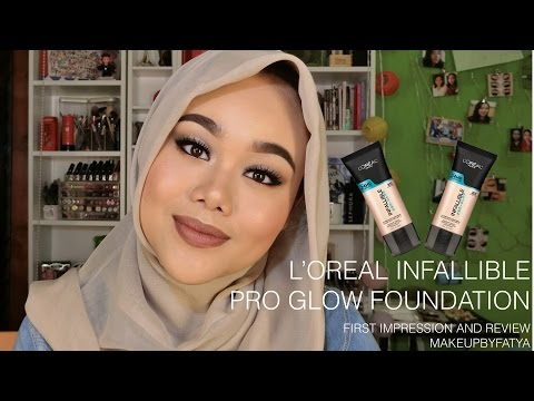 L'oreal Infallible Pro Glow Foundation | First Impression & Review | Indonesia | MakeupbyFatya