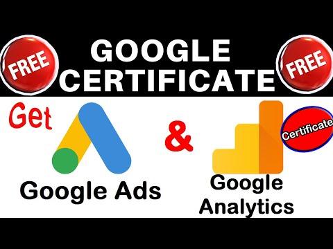 Google Ads & Analytics Certificate Free from Google - 2019   Google ...