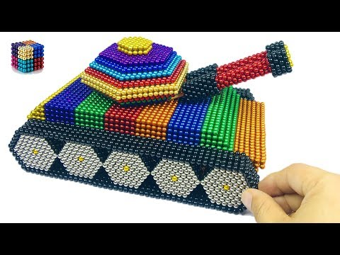 DIY How To Make Tank from 20000 Magnetic Balls(ASMR)| Magnetic Boy 4K