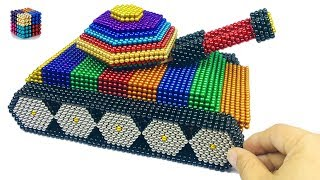 DIY How To Make Tank from 20000 Magnetic Balls(ASMR)| Magnetic Boy 4K