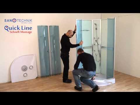 Quick Line Schnell-Montage Duschkabine von Sanotechnik