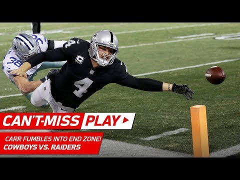 Derek Carr Dives for TD, But Fumbles Out of End Zone to End Game! | Can't-Miss Play | NFL Wk 15
