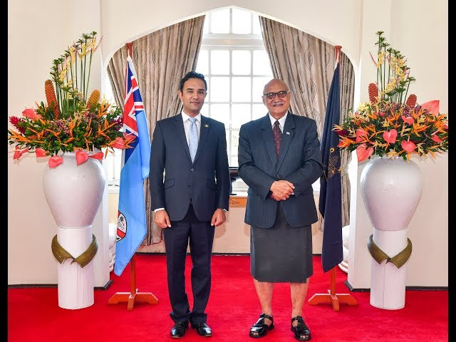 Afghan Envoy Waissi Presents Credentials to Fiji