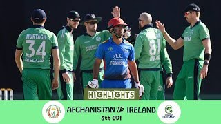 Highlights Afghanistan vs Ireland || 5th ODI || Afghanistan vs Ireland in India 2019