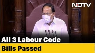 3 Labour Code Bills Passed In Rajya Sabha Amid Opposition Boycott