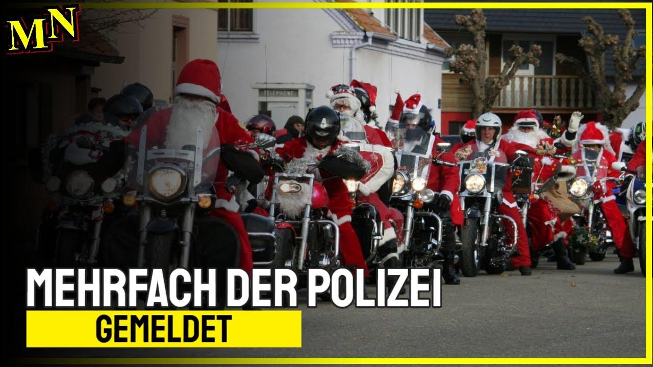 Nikoläuse auf Motorrädern mehrfach bei Polizei gemeldet