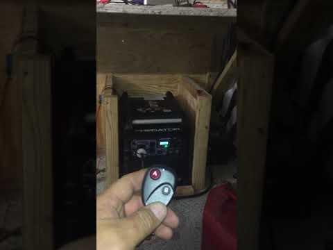 Harbor Freight Predator 3500 Inverter remote start, choke