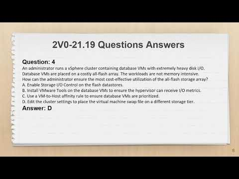 VMware Certified Professional (VCP) 2V0-21.19 Exam Questions ...