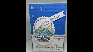 Blooming Basket you are loved card Stampin' Up! | Kholo.pk