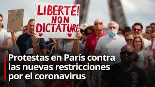 PROTESTA EN PARIS CONTRA LA NUEVAS RESTRICCIONES POR EL COVID-19
