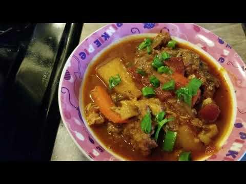 Burn sugar fish stew with Potatoes guyanese style🇬🇾