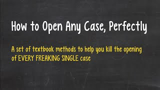 Case Interview - How to Open Any Case, Perfectly