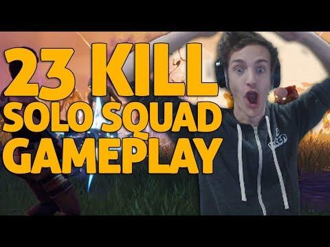 23 Kill Solo Squads Gameplay!! Fortnite Gameplay - Ninja