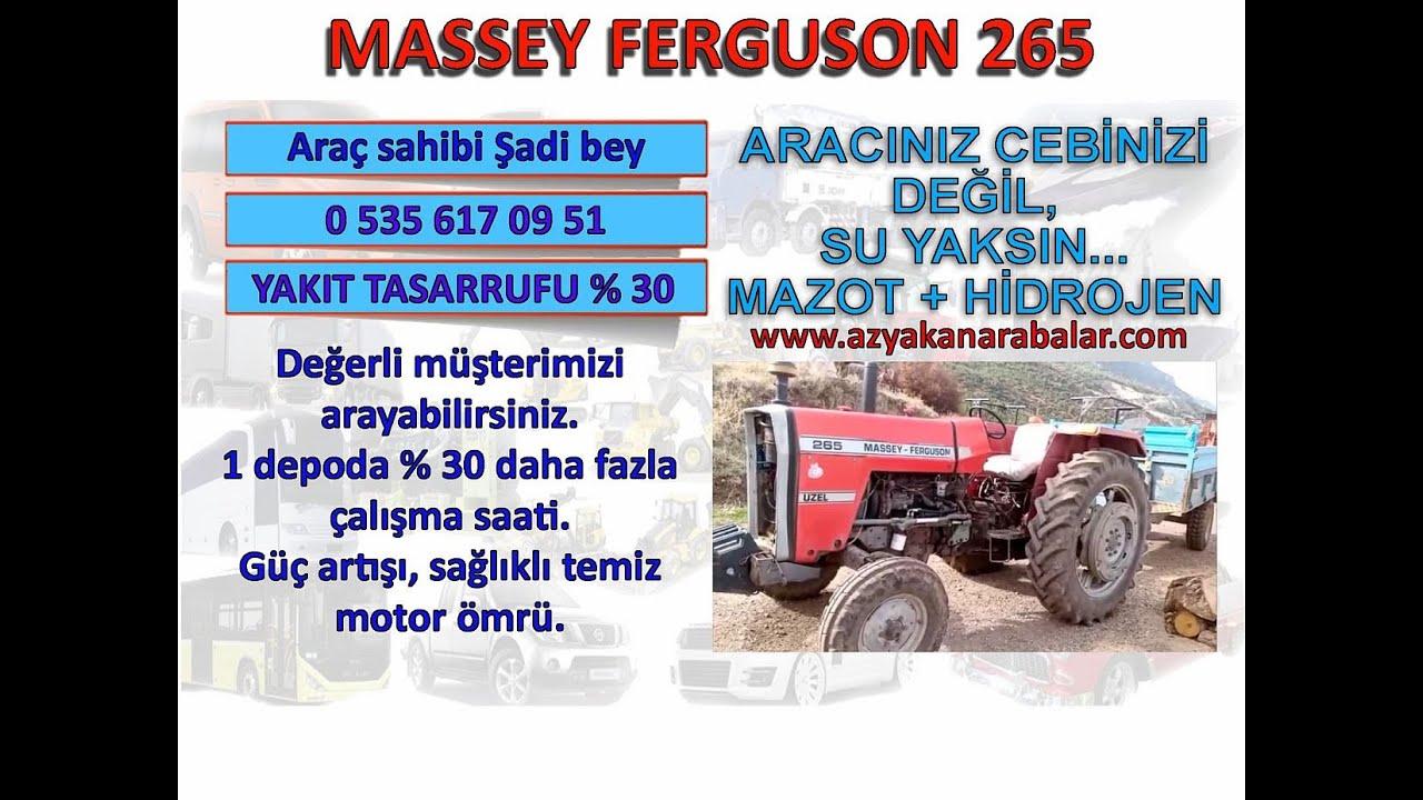 Massey ferguson hidrojenle % 30 yakıt tasarrufu