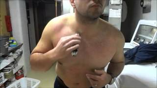 Trimming My HAIRY Chest, Stomach, Arms, Shoulders, And Armpits-Manscaping