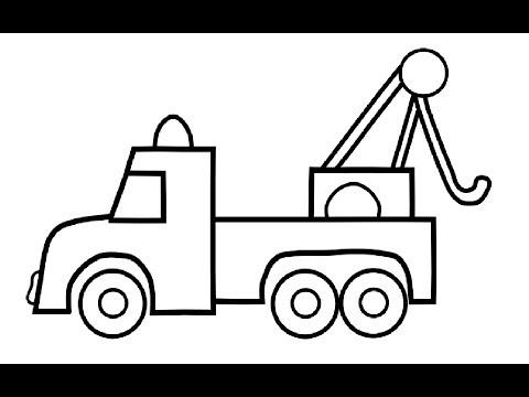 Auto Lkw Malvorlagen Für Kinder Auto Zeichnen Und Ausmalen Wie