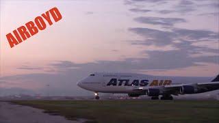 Atlas Air 747 Departing Incirlik, Turkey