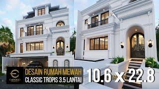 Video Desain Rumah Classic 3.5 Lantai Ibu Tien II di  Jakarta Selatan