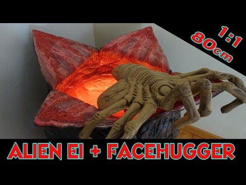 NECA ALIEN EI & FACEHUGGER LIFESIZE REPLIK 1:1 FÜR 560 EURO (...nicht erschrecken im Video !!!)