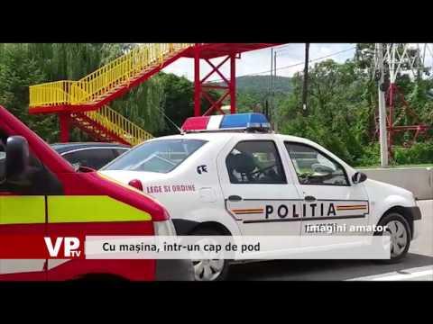 Cu mașina, într-un cap de pod