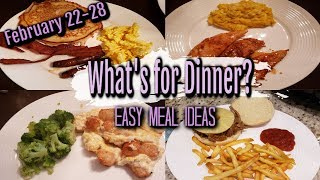 WHAT'S FOR DINNER? | FEBRUARY 22-28 | EASY MEAL IDEAS | MANDY IN THE MAKING