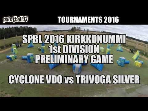 Cyclone VDO vs Trivoga Silver - SPBL2016 Kirkkonummi