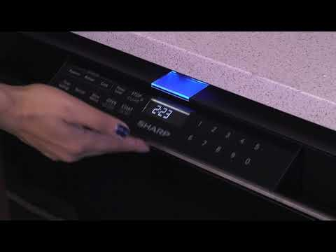 SHARP SMD2480CS MICROWAVE DRAWER FLIP-OUT CONTROL PANEL