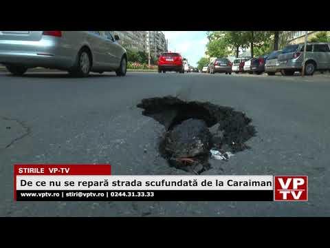 De ce nu se repară strada scufundată de la Caraiman
