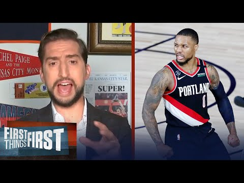 Nick Wright reacts to Damian Lillard leading Blazers to a win over Mavs | NBA | FIRST THINGS FIRST