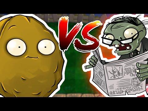 Plants VS Zombies - WallNuts VS Newspaper Zombies!