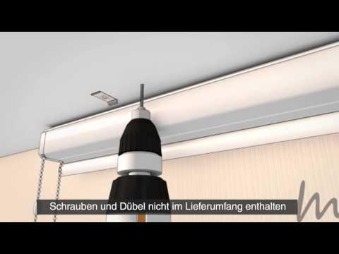 Kassettenrollo Profil eckig mit Kettenzug Deckenmontage - www.mein-Rolloshop.de
