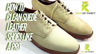 HOW TO CLEAN SUEDE LEATHER SHOES & Make MORE Money Selling Shoes on eBay 2017 Reselling