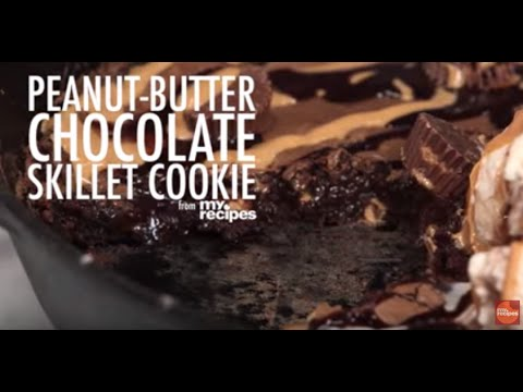 How to Make a Peanut Butter Chocolate Skillet Cookie