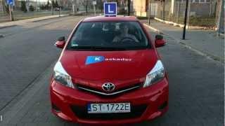 światła Toyota Yaris III, światła Toyota 6cio Biegowa,nowa Toyota,prawo Jazdy Tychy,osk Kaskader