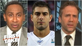 Stephen A. denies being too hard on Jimmy Garoppolo | First Take