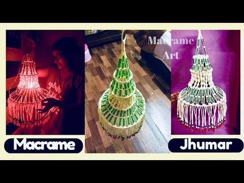 DIY simple macrame Jhumar Macrame Kandil Design | Diwali Special