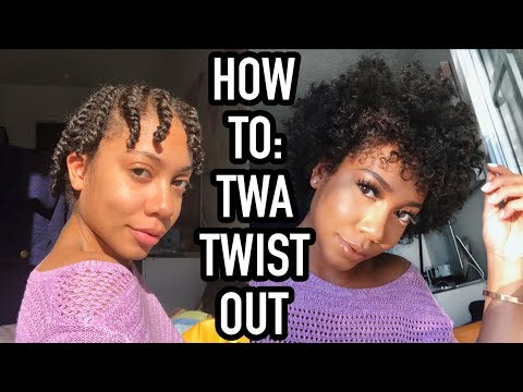 TWIST OUT ON SHORT NATURAL HAIR