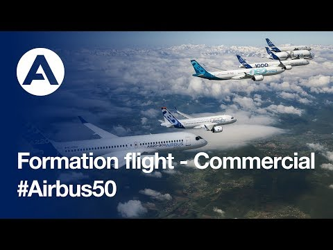 Airbus Celebrates 50 Years for Formation Flight