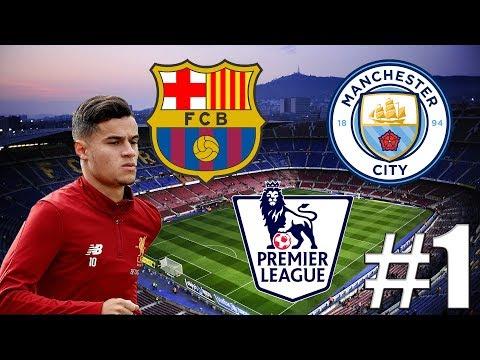 FIFA 18   Barcelona V Premier League!?   Mega Přestup+1.Zápas   #1   CZ/SK