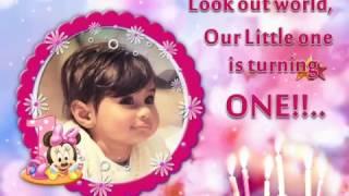 1st Birthday Invitation Video